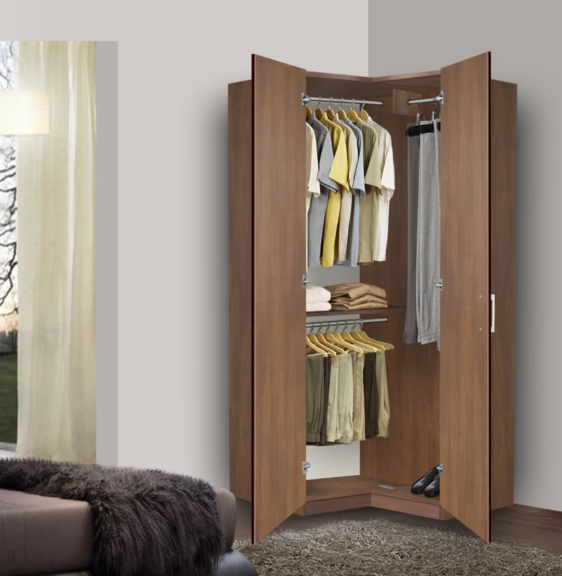 Image of: Review Corner Armoire Closet