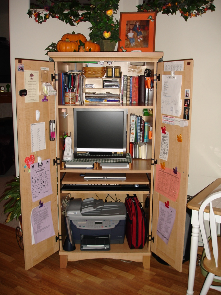 Picture of: Review Corner Computer Armoire