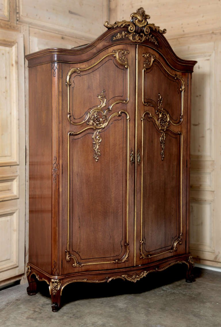 Picture of: Rustic Antique Armoire Wardrobe
