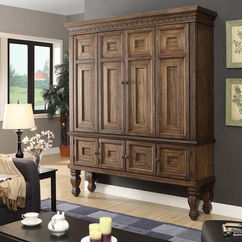 Image of: Rustic Armoire Entertainment Center