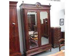 Image of: Rustic Armoire with Mirror Door