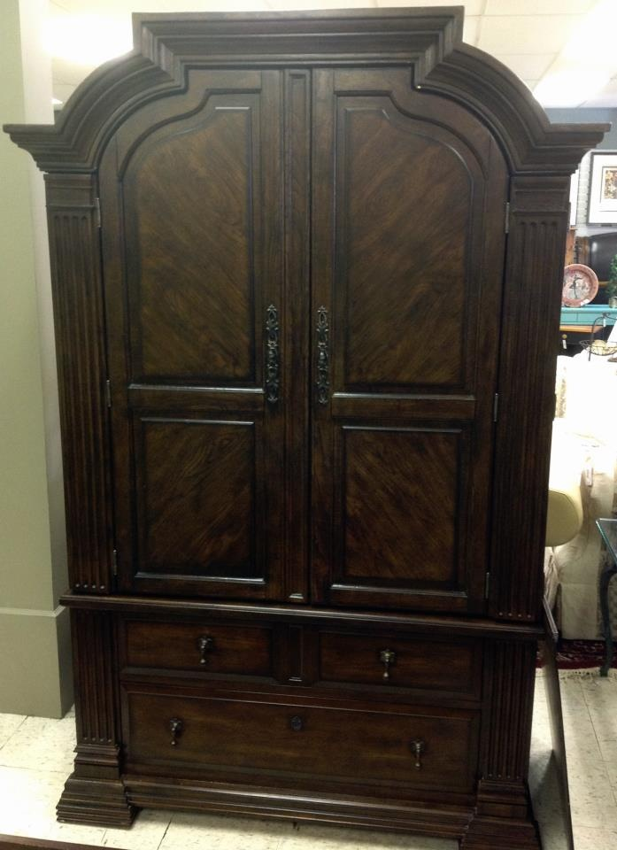 Picture of: Rustic Broyhill Armoire