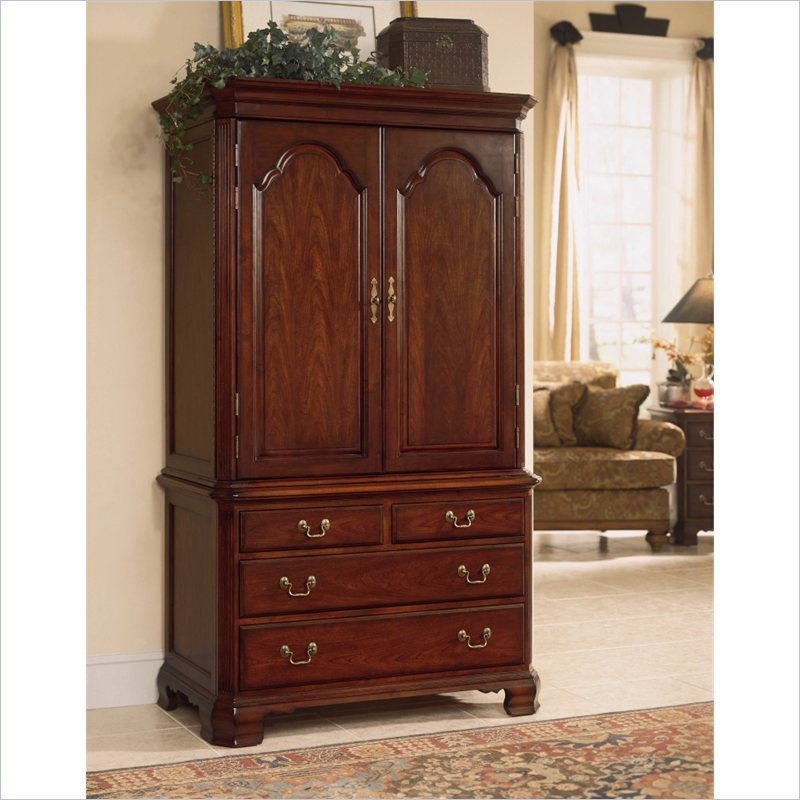 Image of: Rustic Cherry Armoire