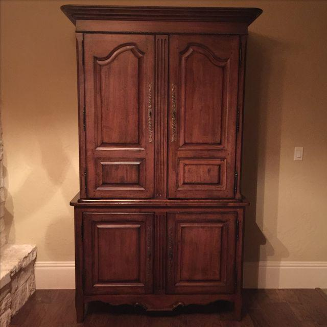 Image of: Rustic Cherry Wood Armoire