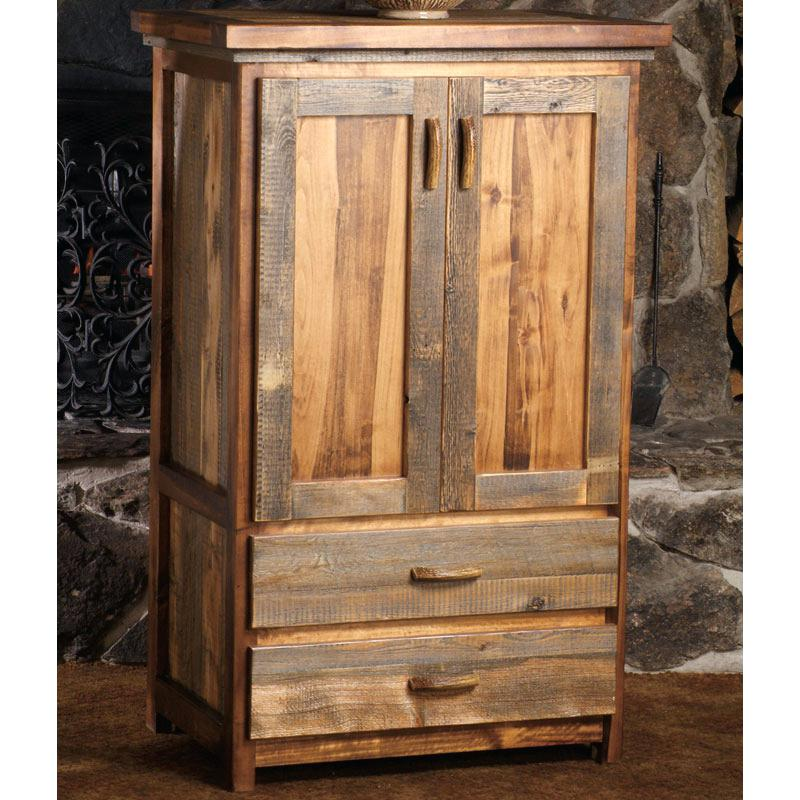 Image of: Rustic Narrow Armoire