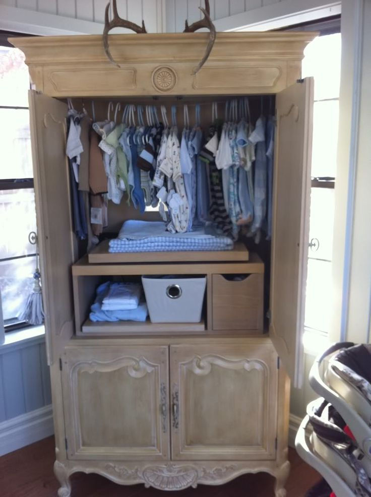 Picture of: Rustic Nursery Armoire