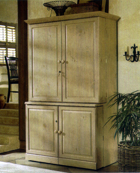 Picture of: Rustic Sauder Computer Armoire