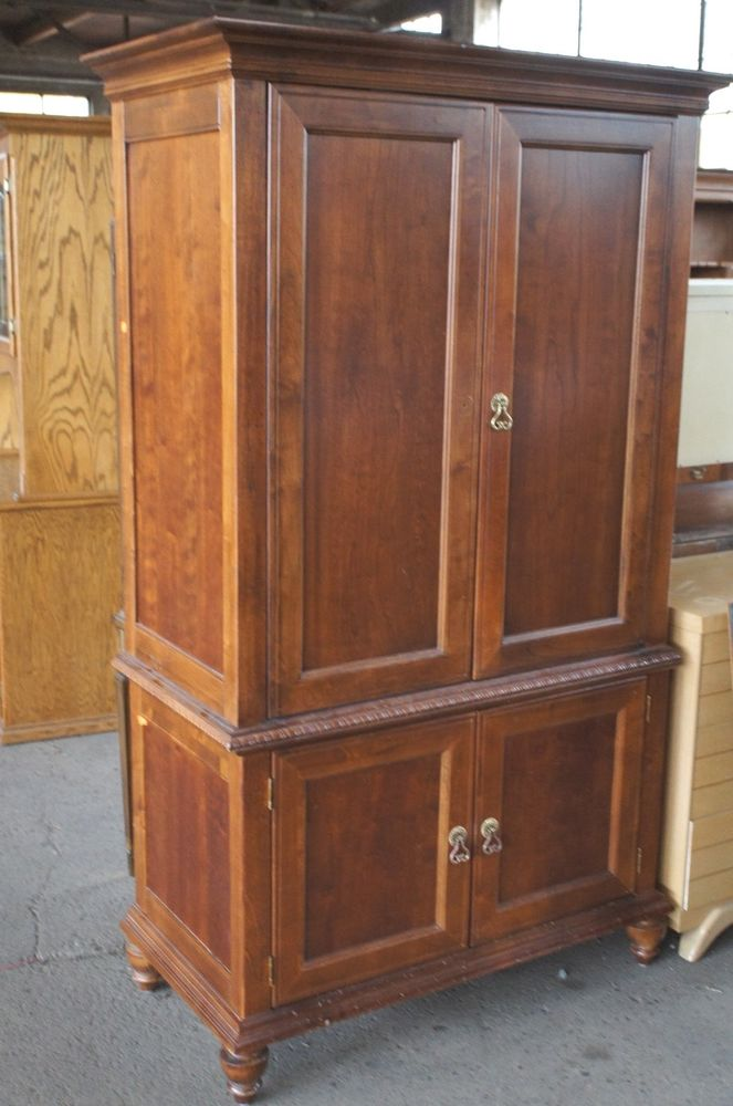 Image of: Rustic TV Armoire Cabinet