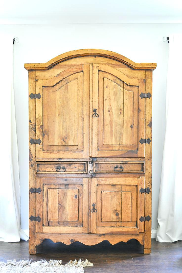 Image of: Rustic West Elm Armoire