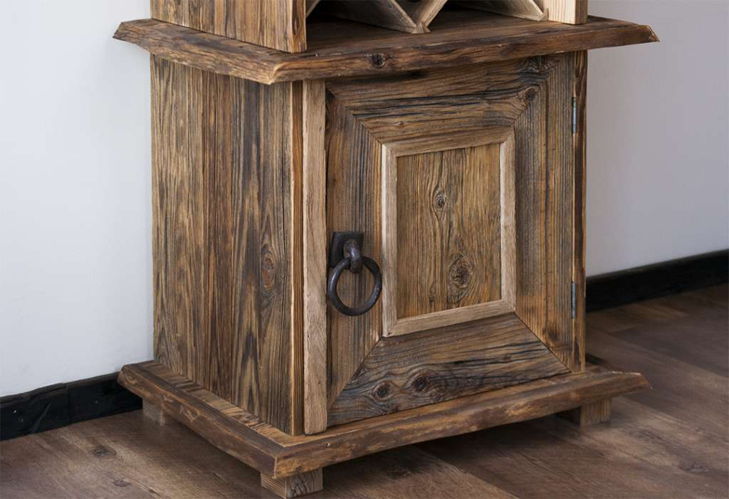 Picture of: Rustic Wine Armoire