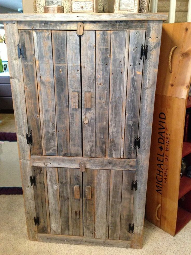 Image of: Rustic Wooden Armoire
