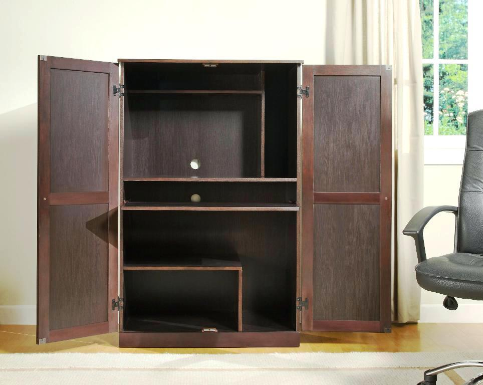 Image of: Sauder Computer Cabinet Armoire