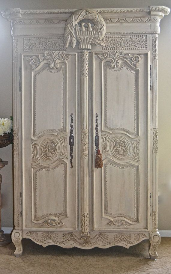 Shabby Chic Antique French Armoireabb