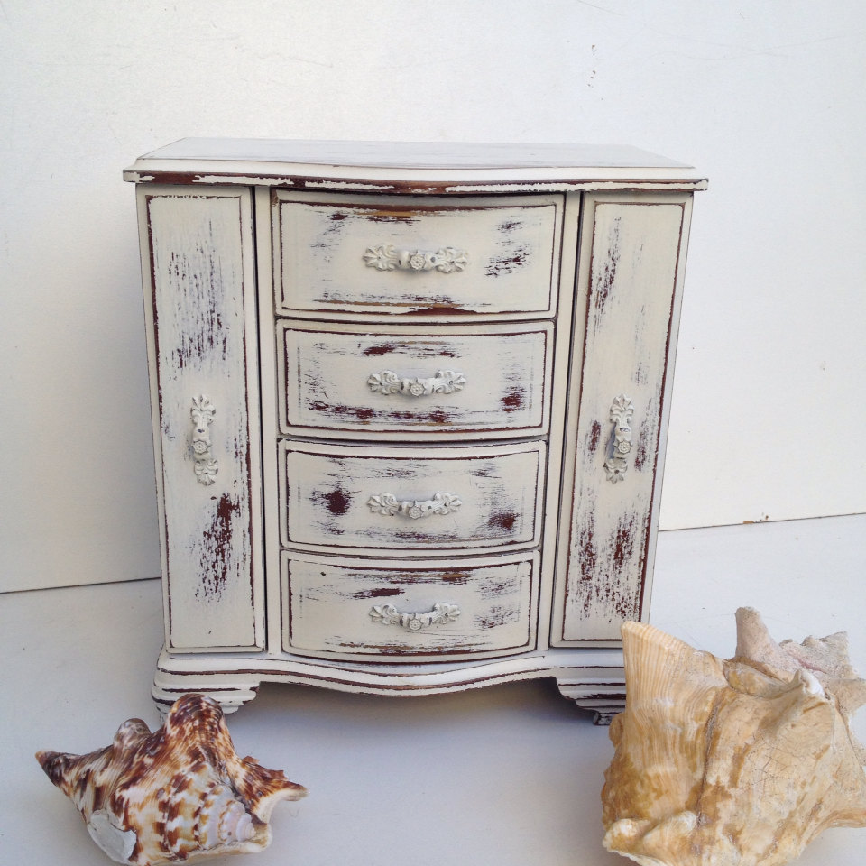 Shabby Chic Armoire Jewelry Box