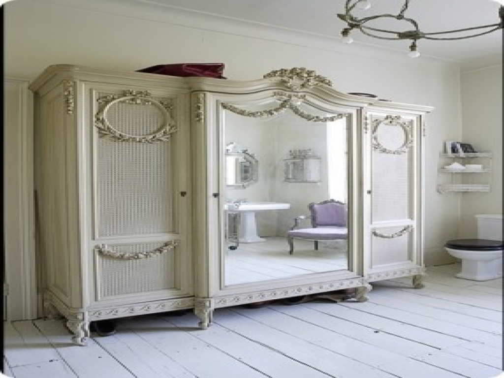 Image of: Shabby Chic Armoire Wardrobe