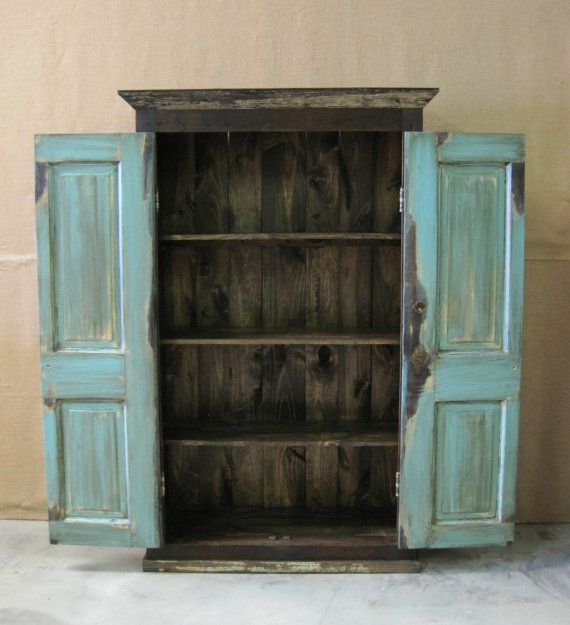 Image of: Shabby Chic Wooden Armoire