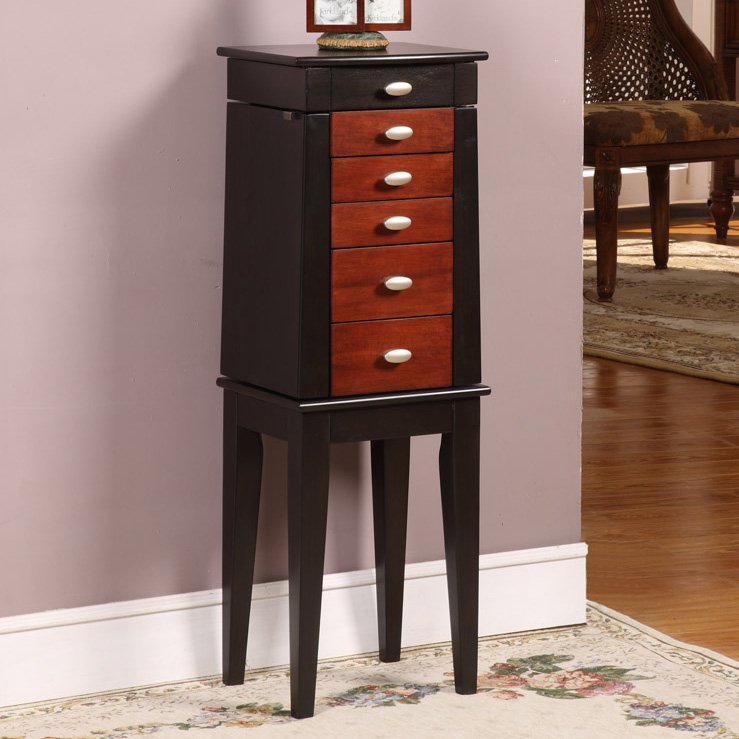 Image of: Simple Black Jewelry Armoire