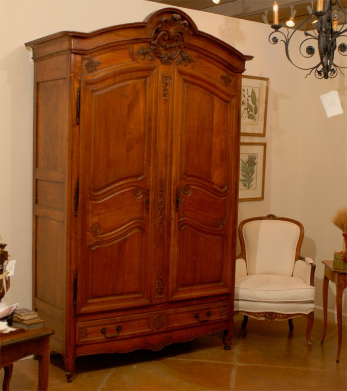 Image of: Simple Cherry Armoire