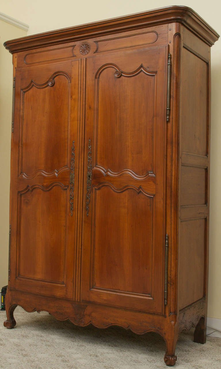 Image of: Simple Cherry Wood Armoire