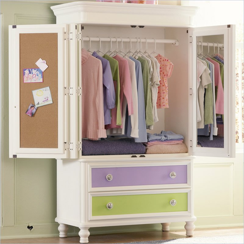 Simple Children's Armoire Wardrobe