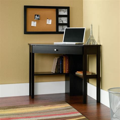 Simple Corner Armoire Computer Desk