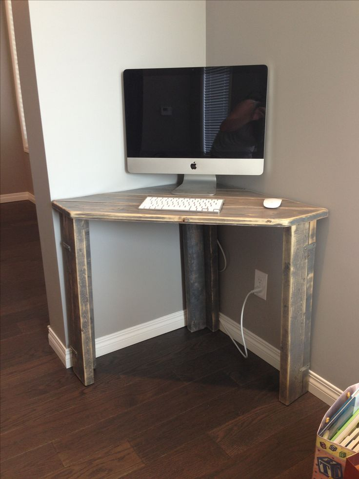 Image of: Simple Corner Armoire Desk