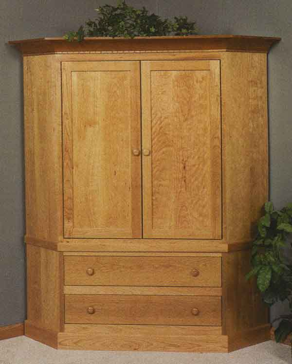 Picture of: Simple Corner TV Armoire
