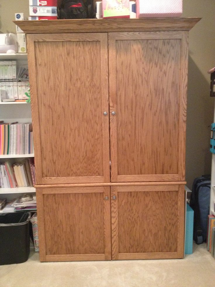 Image of: Simple Craft Cabinet Armoire