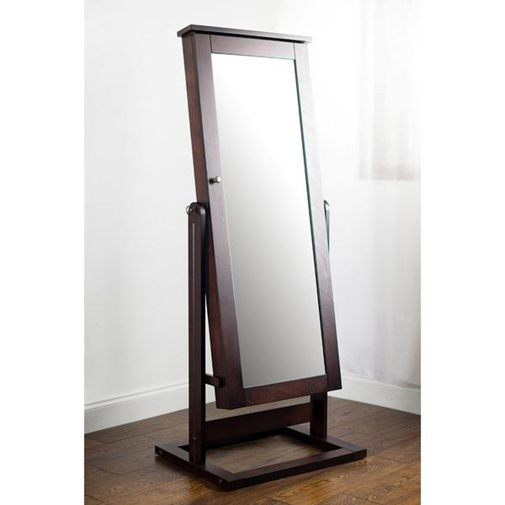 Picture of: Simple Full Length Mirror Jewelry Armoire