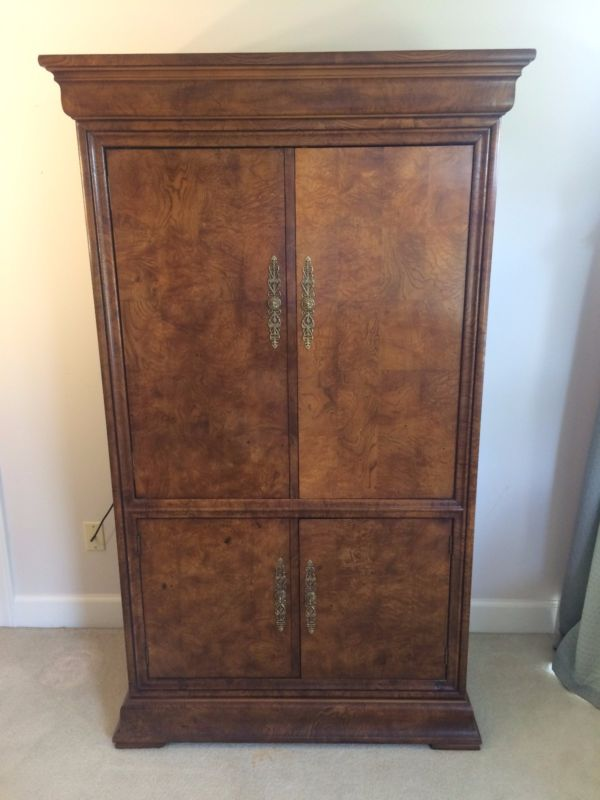 Picture of: Simple Henredon Armoire
