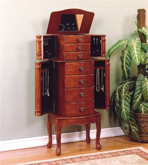 Image of: Simple Jewelry Cabinet Armoire