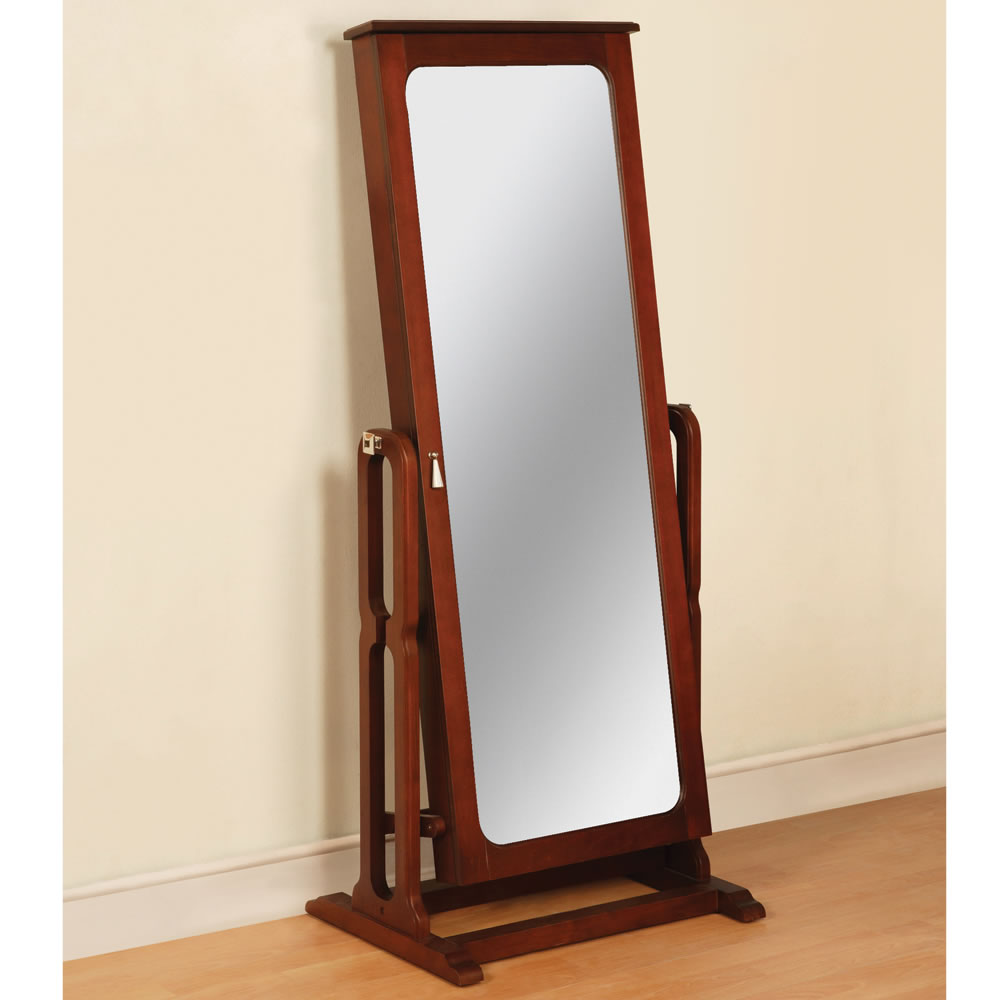 Image of: Simple Mirror Jewelry Armoire