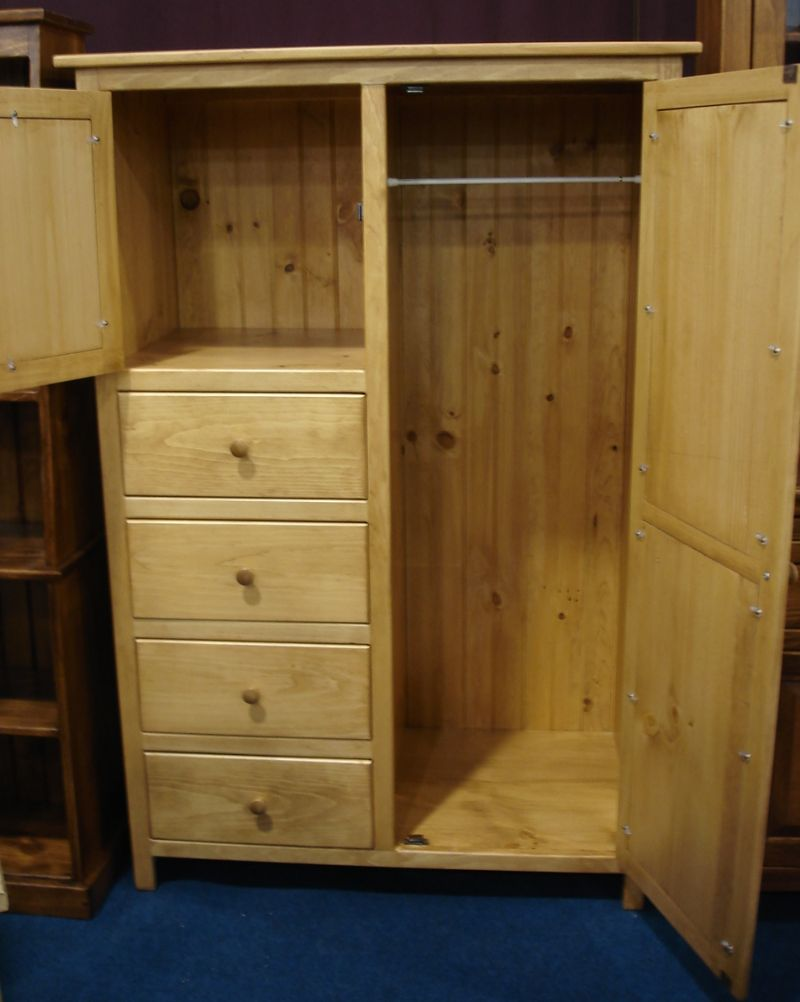 Image of: Simple Pine Armoire