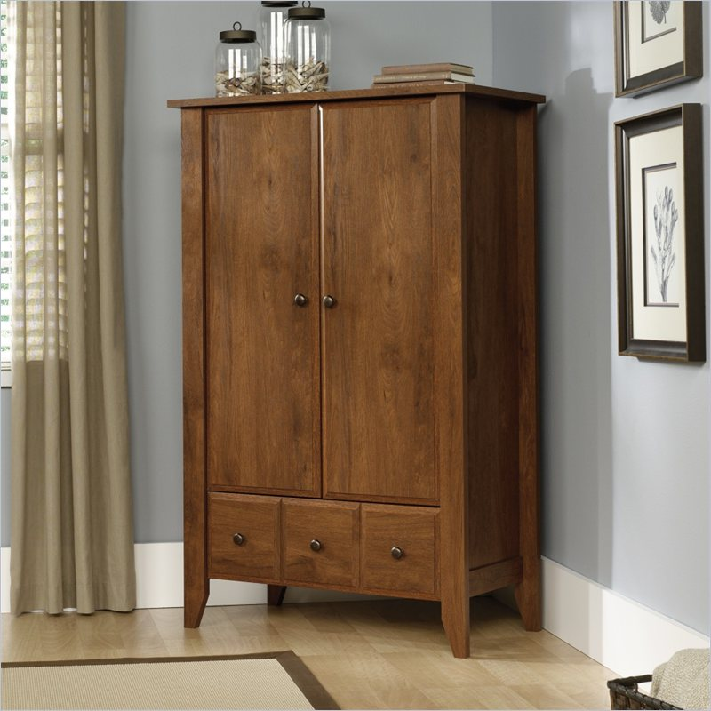 Image of: Simple Sauder Armoire