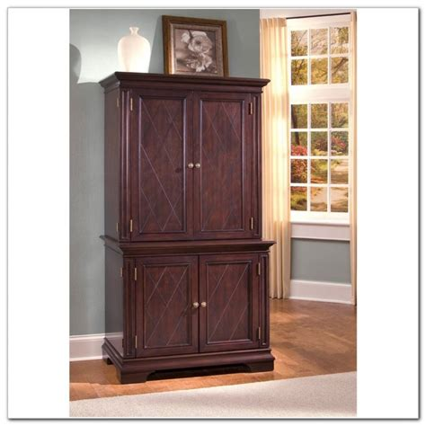 Picture of: Simple Small Computer Armoire