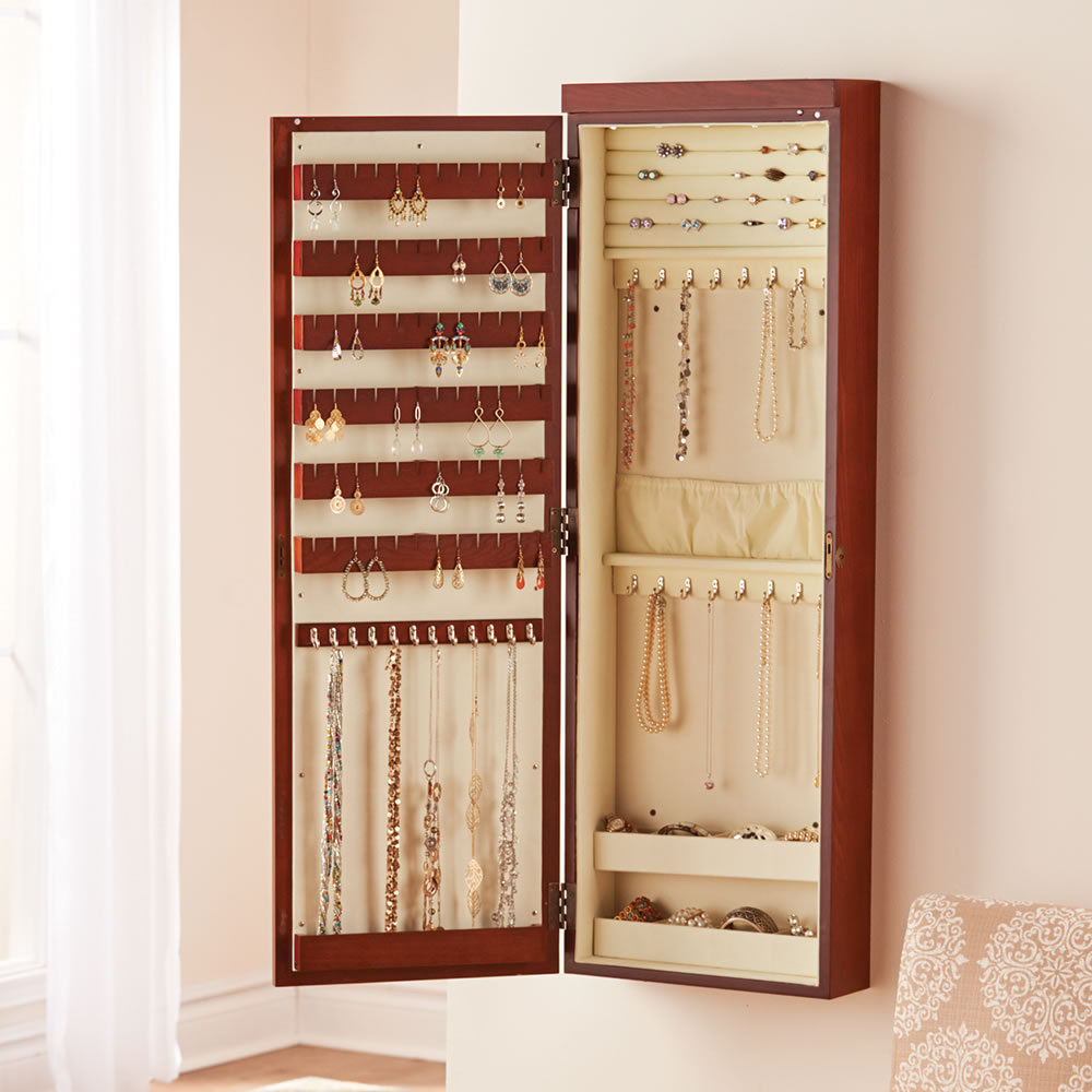 Picture of: Simple Wall Mount Jewelry Armoire