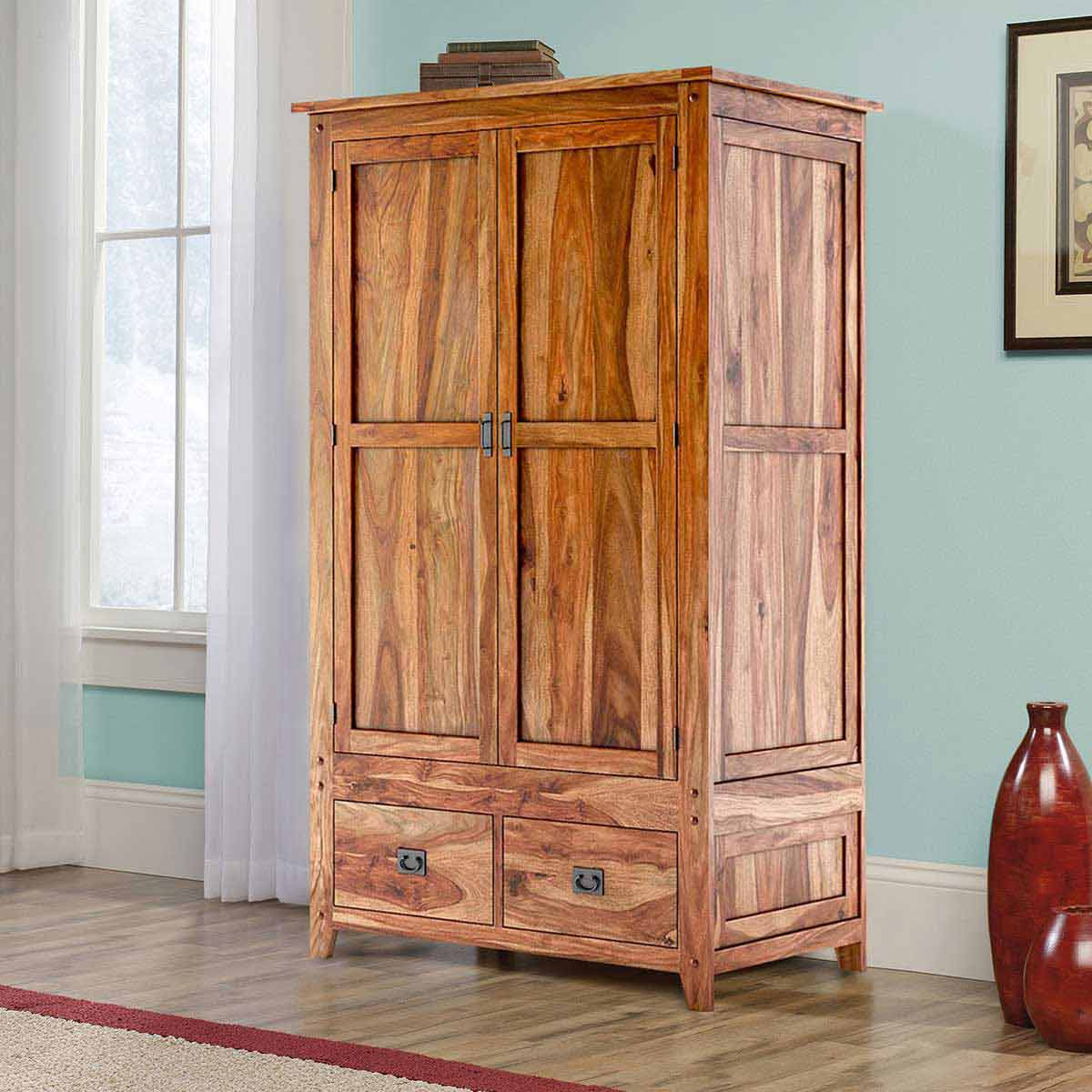 Image of: Simple Wooden Armoire