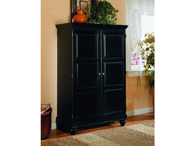 Image of: Small Black Computer Armoire