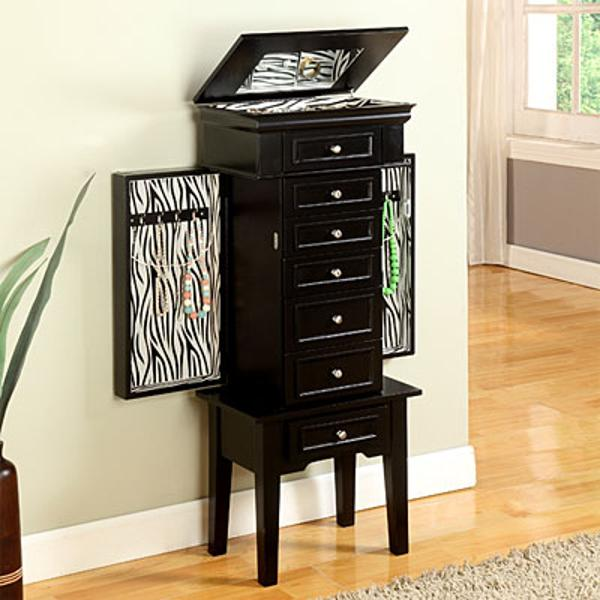 Image of: Small Black Jewelry Armoire
