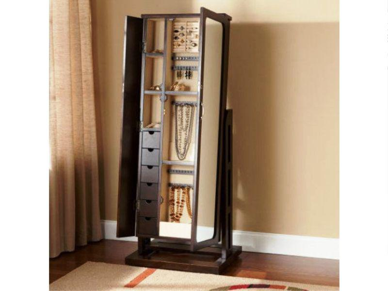 Image of: Small Cheval Mirror Jewelry Armoire