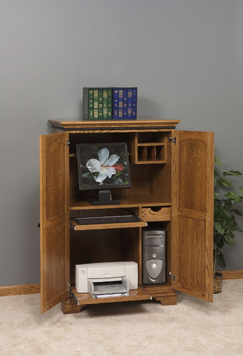 Image of: Small Computer Armoire Desk