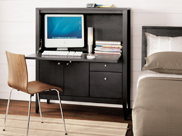 Image of: Small Computer Armoire Ikea