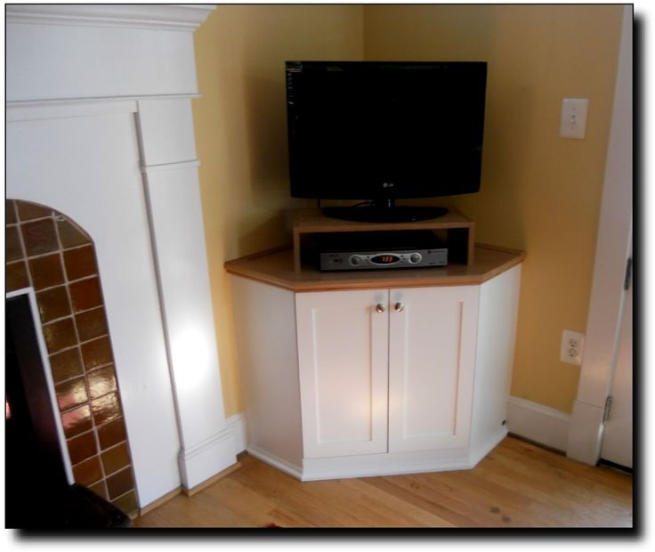Small Corner TV Armoire