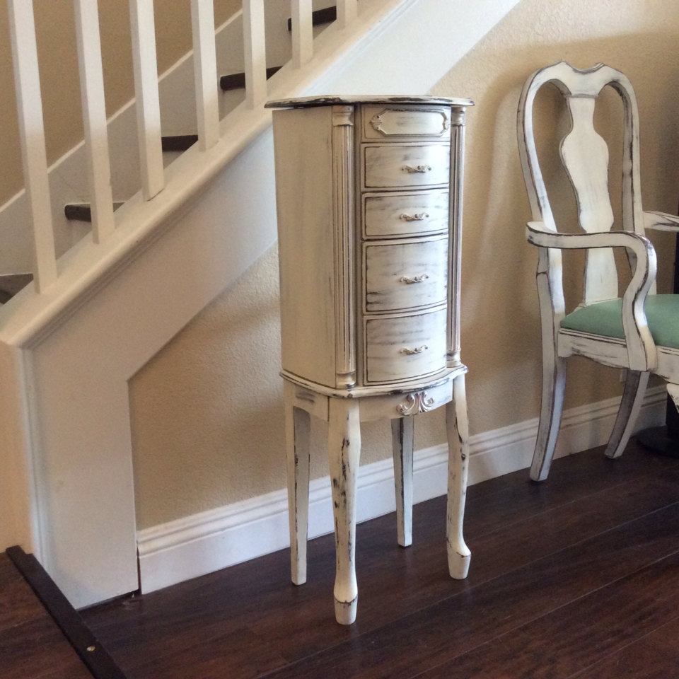 Image of: Small Distressed Armoire