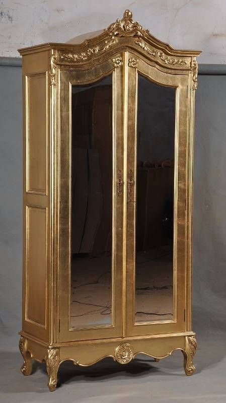 Picture of: Small Mirrored Armoire Wardrobe