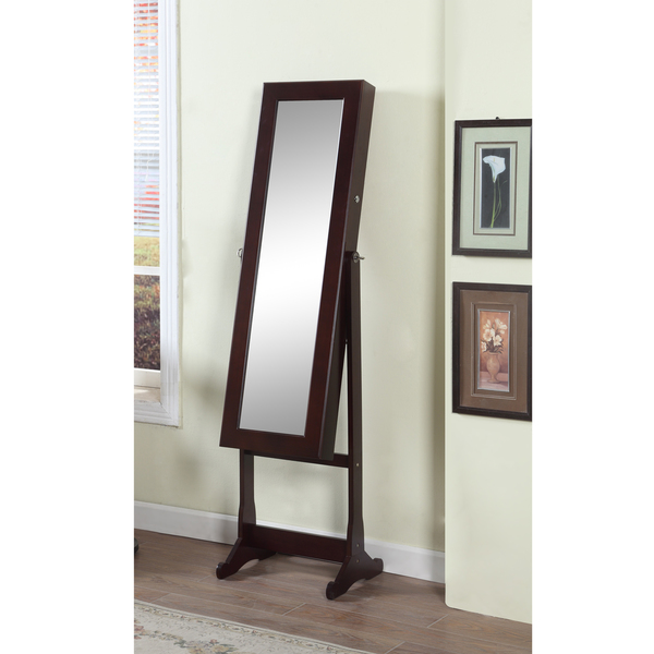 Small Standing Mirror Jewelry Armoire