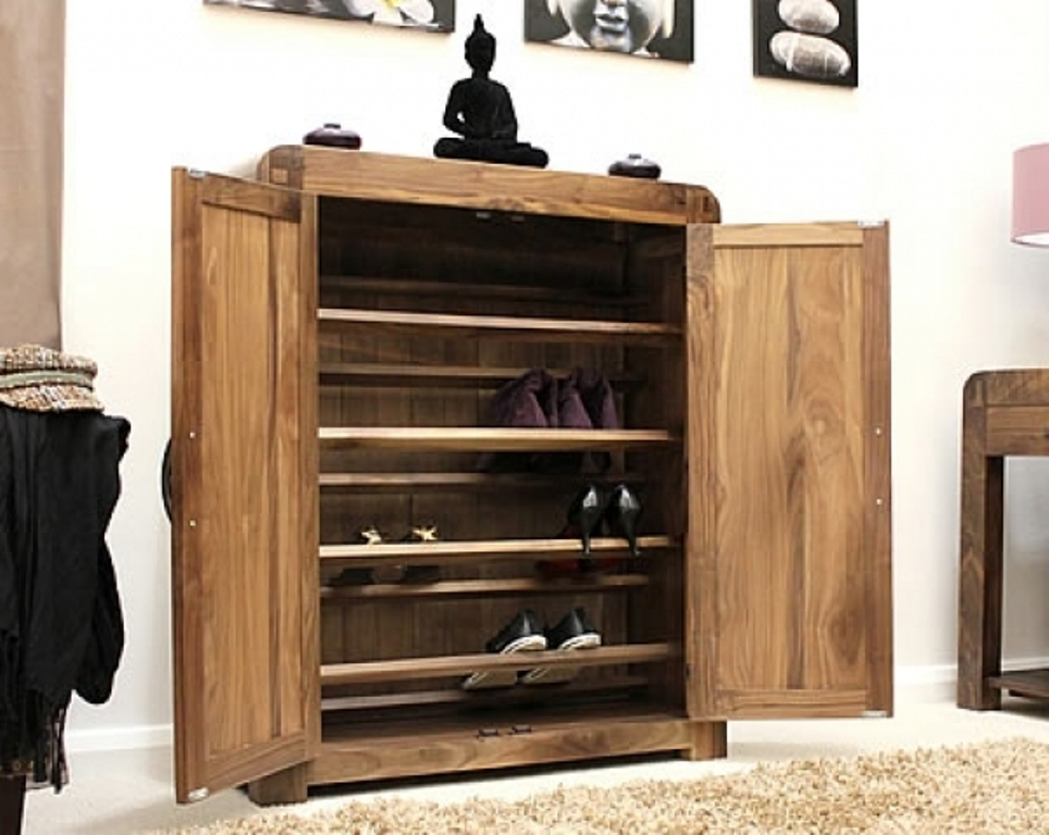 Image of: Solid Shoe Armoire