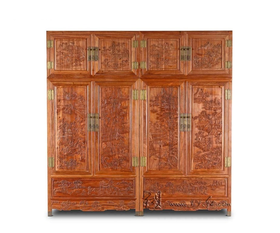 Image of: Solid Wood Armoire Cabinet