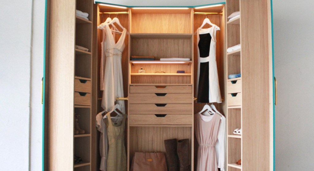 Image of: Solid Wood Armoire Closet