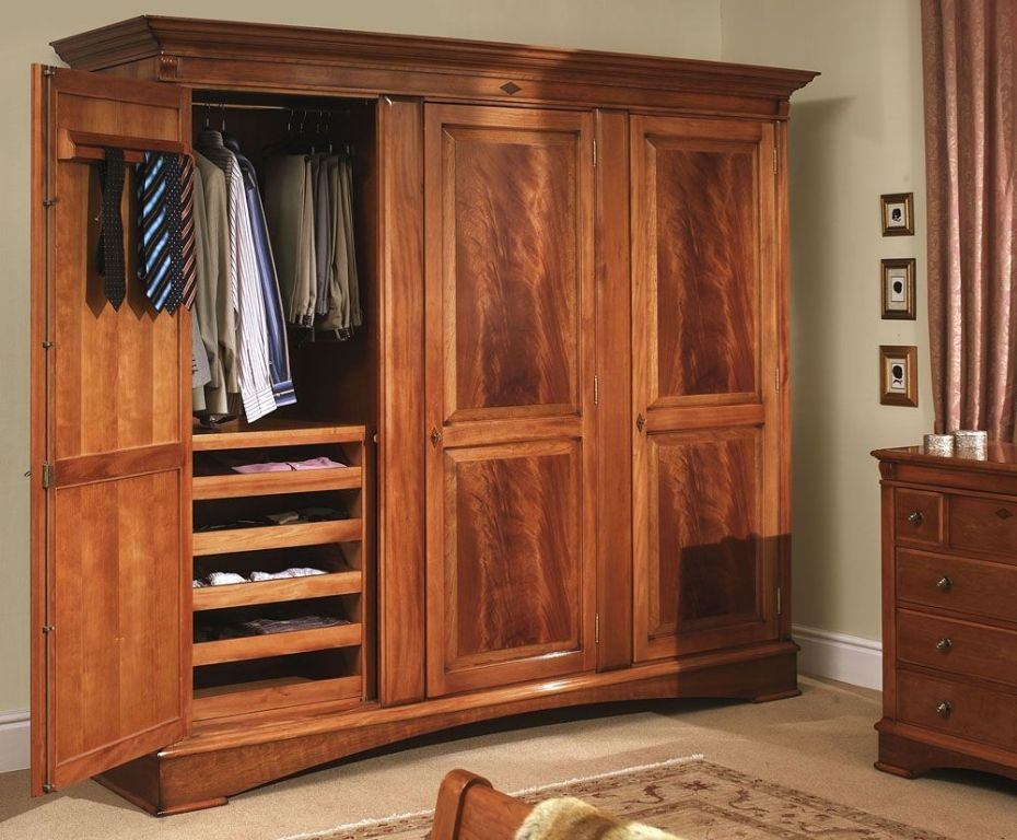 Solid Wood Armoire Wardrobe Closet